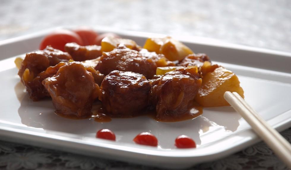 курица по китайски в кисло сладком соусе рецепт с фото