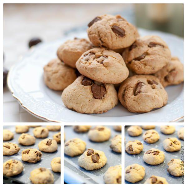 Готовое печенье с шоколадными кусочками