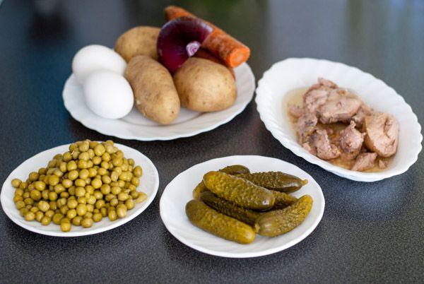 Ингредиенты на салат из печени трески