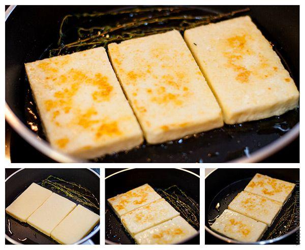 Обжариваем сыр с обеих сторон