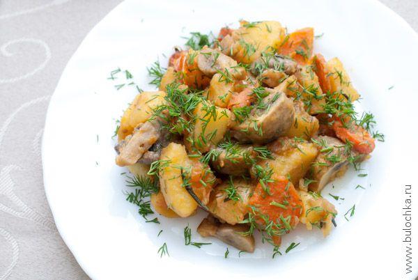 Овощное рагу с грибами готово