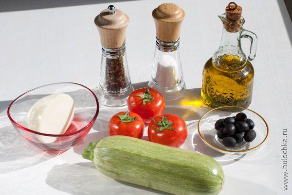 Ингредиенты для рецепты Кабачки с помидорами и сыром