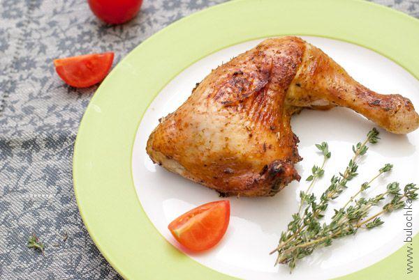 Куриные окорочка жареные в духовке готовы