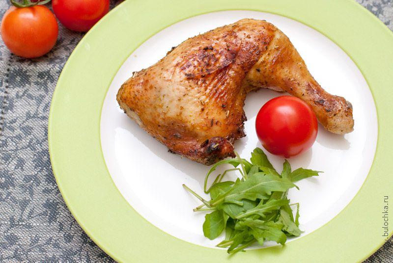 Куриные окорочка жареные вдуховке