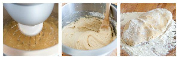 Добавляем муку и замешиваем мягкое тесто