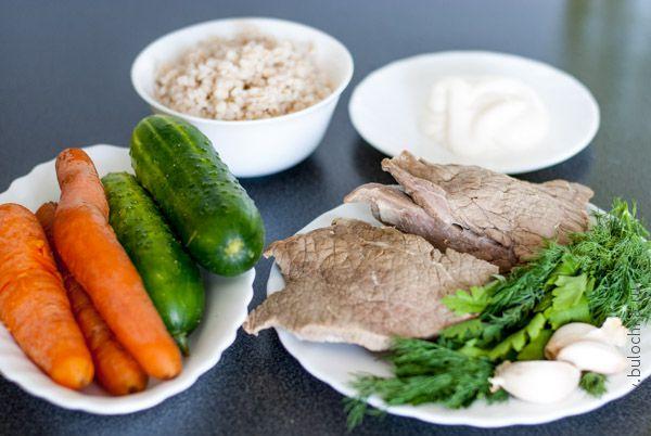 Ингредиенты на салат «Жемчужина»
