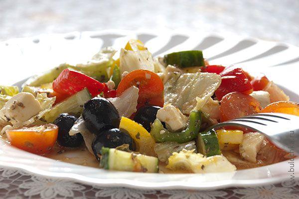 Греческий салат готов!