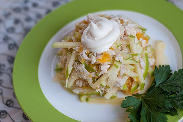 Салат с куриной грудкой и апельсинами «Оригинальный» готов!