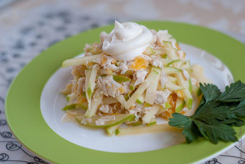 Салат скуриной грудкой иапельсинами «Оригинальный»