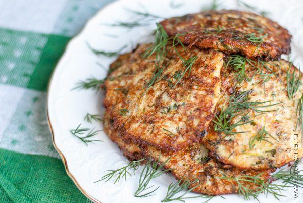 Оладьи из кабачков с сыром готовы!