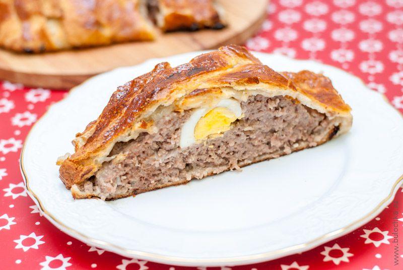 мясо в слоёном тесте в духовке рецепт с фото
