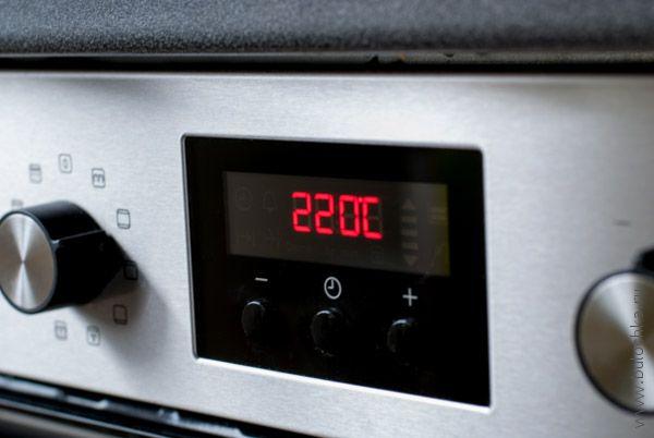 Разогреваем духовку до 220С