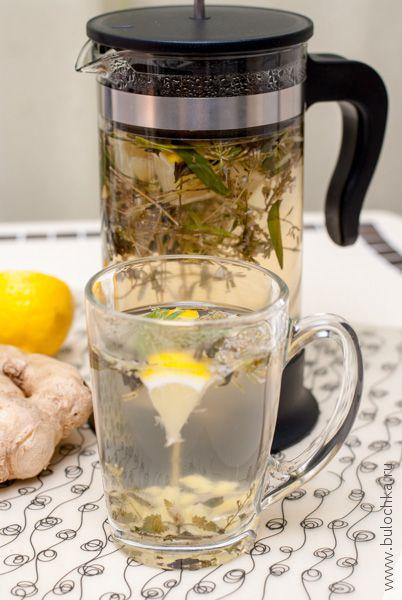 Готовый чай с эстрагоном, лимоном и мятой