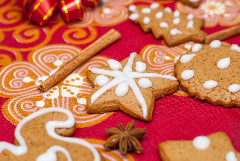 Имбирное печенье сглазурью