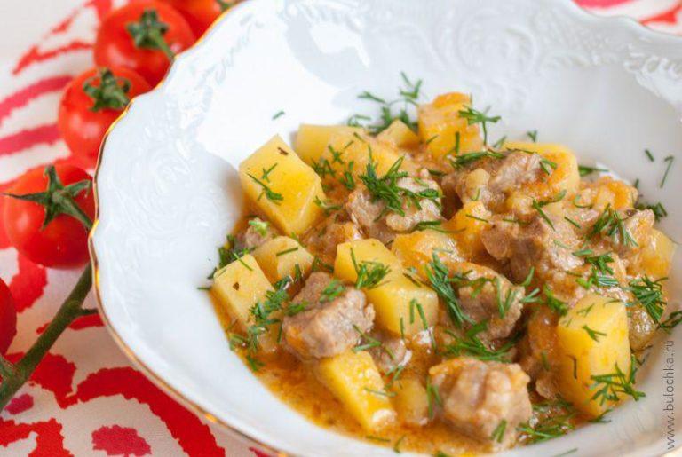 Рецепт как потушить картошку с мясом