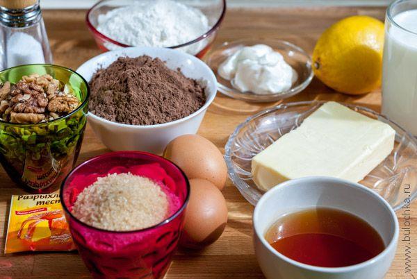 Ингредиенты черёмухового торта