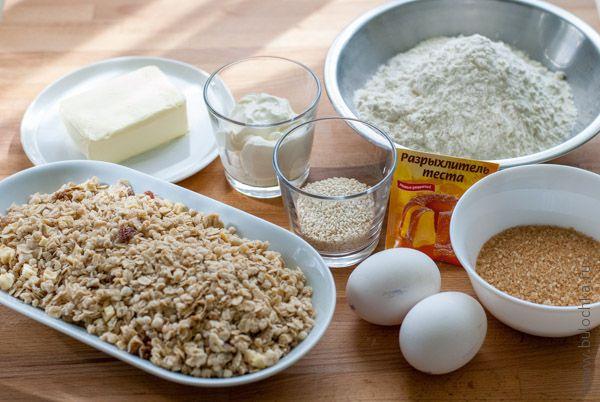 Ингредиенты для приготовления печенья с мюсли