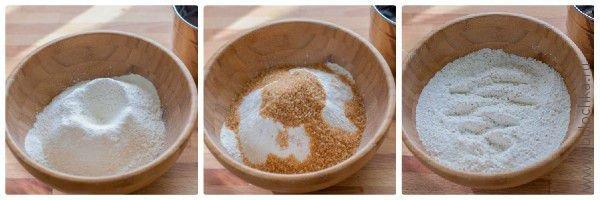 Смешаем сухие ингредиенты для нашего печенья из мюсли