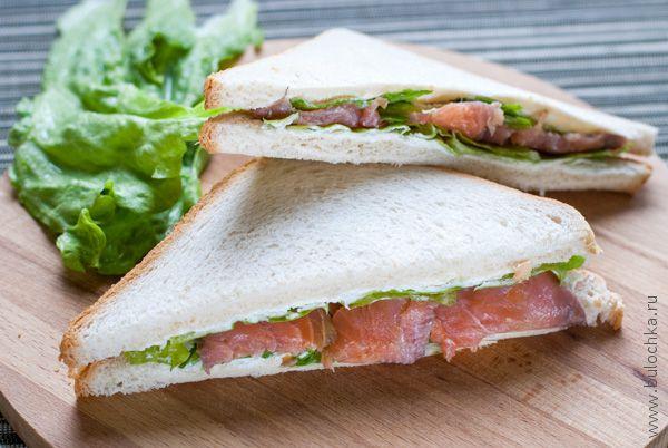 Бутерброды с сёмгой готовы!