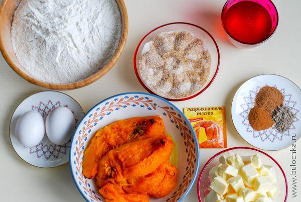 Ингредиенты для приготовления кексов из тыквы