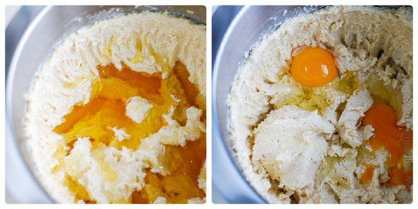 Добавляем мёд и яйца
