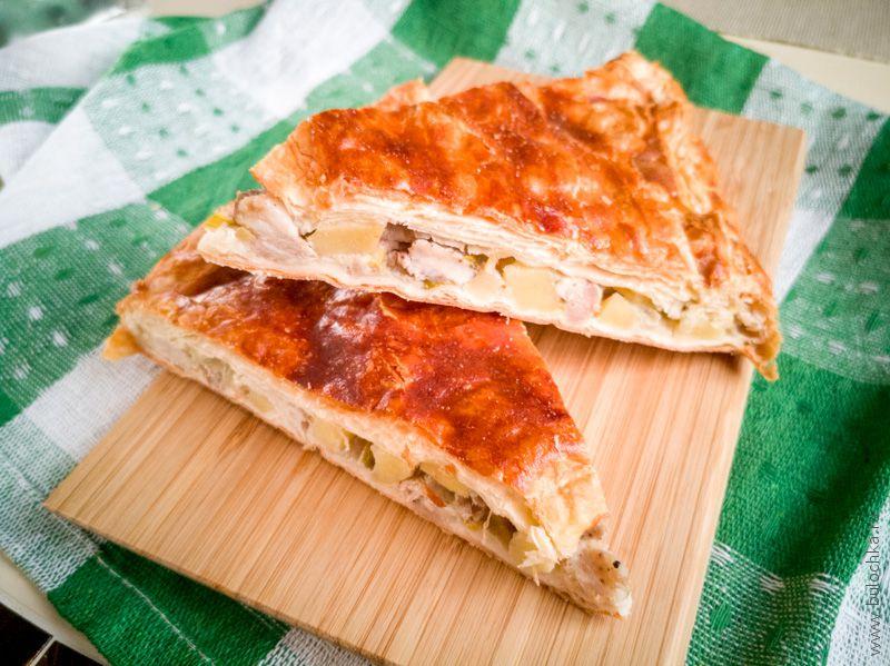 Пирог «Кубэтэ» с мясом и картофелем