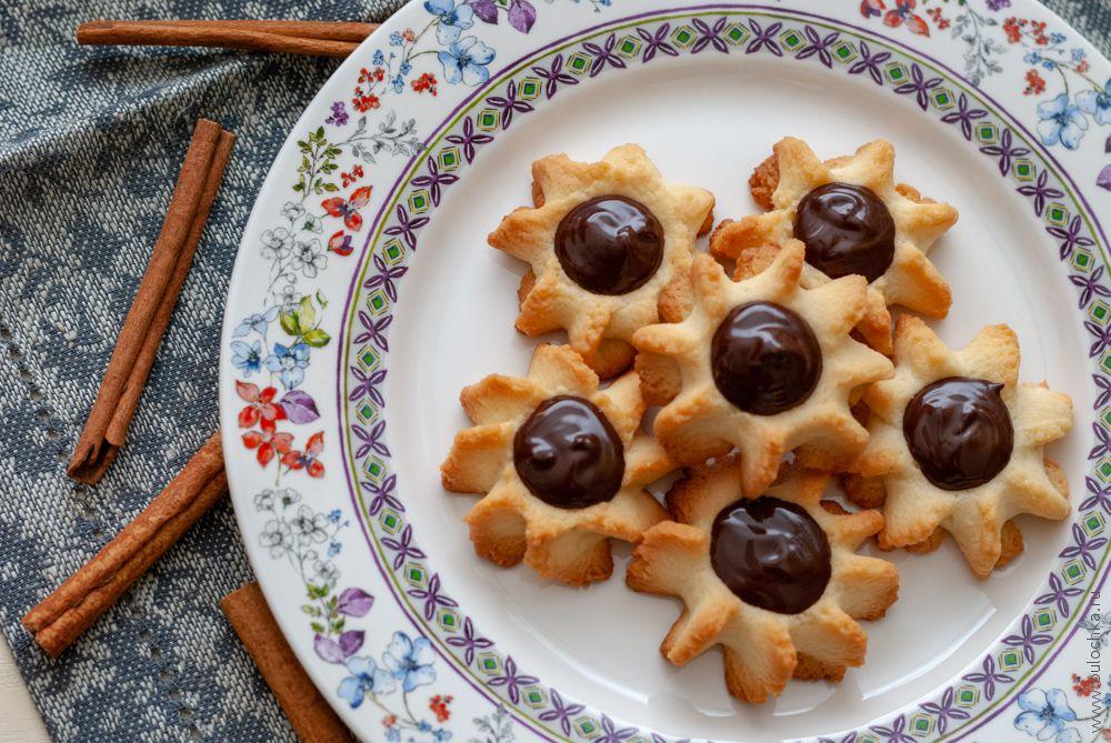 Печенье курабье сшоколадом