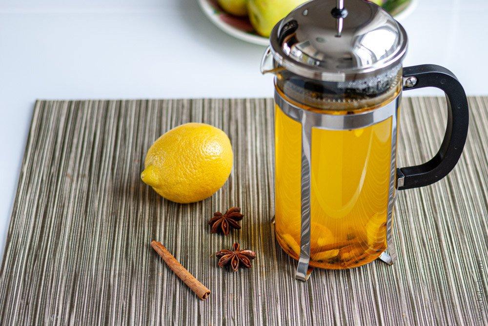 Имбирный чай слимоном икорицей