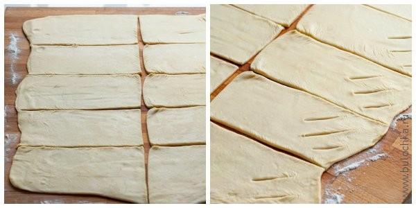Разрезаем на 10 прямоугольников, делаем надрезы