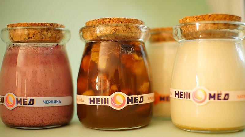НЕЖ — набор из 4-х вкусов крем-мёда в подарок