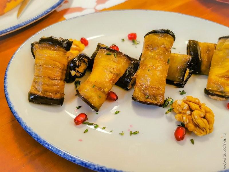 Отзыв о ресторане Джонджоли — рулетики из баклажан
